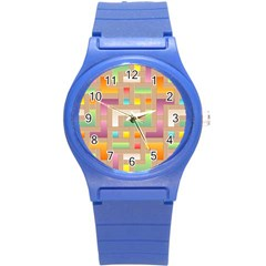 Abstract Background Colorful Round Plastic Sport Watch (s)