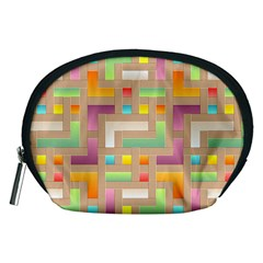 Abstract Background Colorful Accessory Pouch (medium)
