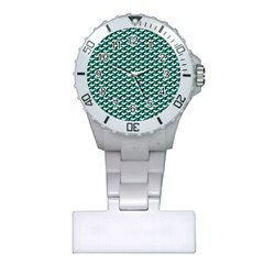 Pattern Green Blue Grey Hues Plastic Nurses Watch