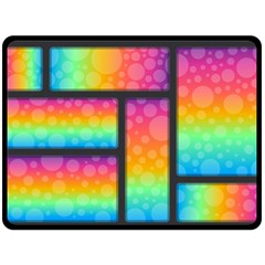 Background Colorful Abstract Double Sided Fleece Blanket (large)