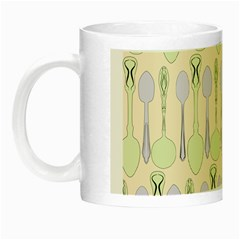Spoon Pattern Illustrator Green Night Luminous Mugs