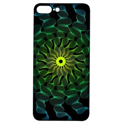 Abstract Ribbon Green Blue Hues Iphone 7/8 Plus Soft Bumper Uv Case