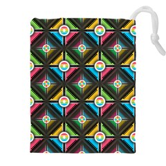 Seamless Pattern Background Abstract Drawstring Pouch (xxxl)