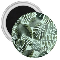 Medellin Leaves Tropical Jungle 3  Magnets by Pakrebo