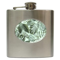 Medellin Leaves Tropical Jungle Hip Flask (6 Oz)