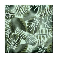 Medellin Leaves Tropical Jungle Face Towel by Pakrebo