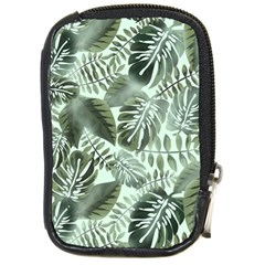 Medellin Leaves Tropical Jungle Compact Camera Leather Case by Pakrebo