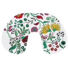 Flowers Garden Tropical Plant Travel Neck Pillow