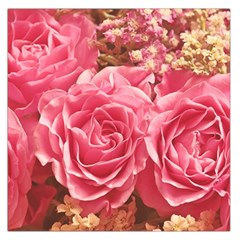 Roses Noble Roses Romantic Pink Large Satin Scarf (square)