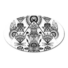 Ancient Parade Ancient Civilization Oval Magnet