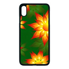 Flower Pattern Floral Non Seamless Iphone Xs Max Seamless Case (black) by Pakrebo