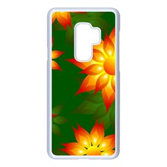 Flower Pattern Floral Non Seamless Samsung Galaxy S9 Plus Seamless Case(white)