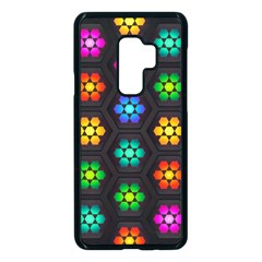 Pattern Background Colorful Design Samsung Galaxy S9 Plus Seamless Case(black) by Pakrebo