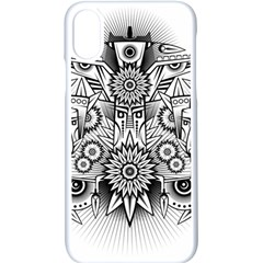 Forest Patrol Tribal Abstract Iphone Xs Seamless Case (white)
