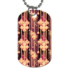 Illustrations Seamless Pattern Dog Tag (One Side)