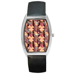 Illustrations Seamless Pattern Barrel Style Metal Watch