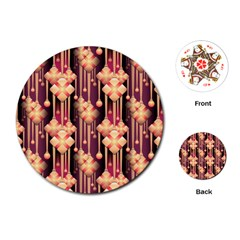 Illustrations Seamless Pattern Playing Cards Single Design (Round)
