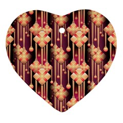 Illustrations Seamless Pattern Heart Ornament (Two Sides)