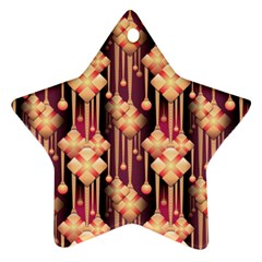 Illustrations Seamless Pattern Star Ornament (Two Sides)
