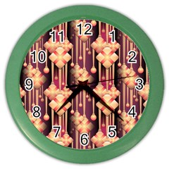 Illustrations Seamless Pattern Color Wall Clock