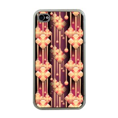 Illustrations Seamless Pattern iPhone 4 Case (Clear)
