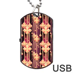 Illustrations Seamless Pattern Dog Tag USB Flash (One Side)