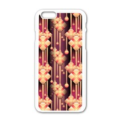 Illustrations Seamless Pattern iPhone 6/6S White Enamel Case
