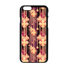Illustrations Seamless Pattern iPhone 6/6S Black Enamel Case