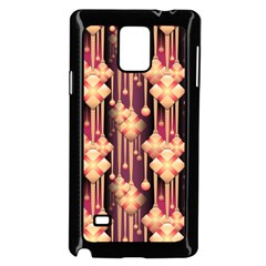 Illustrations Seamless Pattern Samsung Galaxy Note 4 Case (Black)