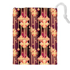 Illustrations Seamless Pattern Drawstring Pouch (XXL)