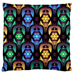 Pattern Background Bright Blue Standard Flano Cushion Case (two Sides) by Pakrebo