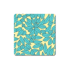 Leaves Dried Leaves Stamping Square Magnet