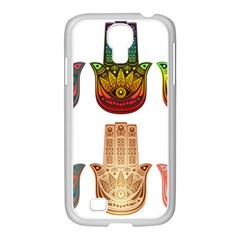 Evil Eye Protection Charm Colorful Samsung Galaxy S4 I9500/ I9505 Case (white)
