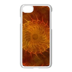 Orange Warm Hues Fractal Chaos Iphone 8 Seamless Case (white)