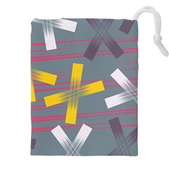 Background Abstract Non Seamless Drawstring Pouch (xxxl)