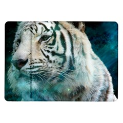 White Tiger Samsung Galaxy Tab 10 1  P7500 Flip Case by snowwhitegirl