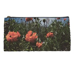 Faded Poppy Field  Pencil Cases by okhismakingart