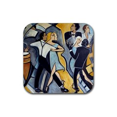 Cool Tango  Rubber Square Coaster (4 Pack)