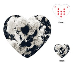 High Contrast Black And White Snowballs Playing Cards Single Design (heart) by okhismakingart