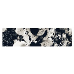 High Contrast Black And White Snowballs Satin Scarf (oblong) by okhismakingart