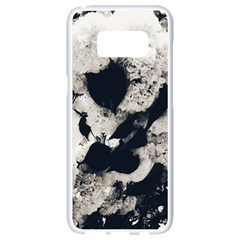 High Contrast Black And White Snowballs Samsung Galaxy S8 White Seamless Case by okhismakingart
