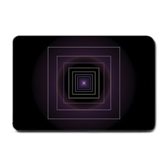 Fractal Square Modern Purple Small Doormat