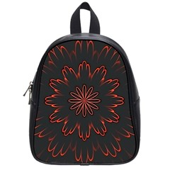 Fractal Glowing Abstract Digital School Bag (small)