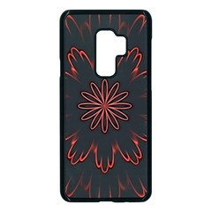 Fractal Glowing Abstract Digital Samsung Galaxy S9 Plus Seamless Case(black) by Pakrebo