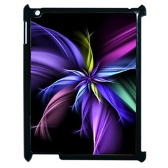 Fractal Floral Pattern Petals Apple Ipad 2 Case (black) by Pakrebo