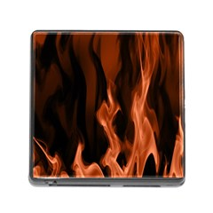 Smoke Flame Abstract Orange Red Memory Card Reader (square 5 Slot)