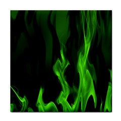 Smoke Flame Abstract Green Face Towel