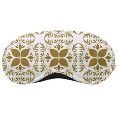Illustrations Pattern Gold Floral Texture Design Sleeping Mask
