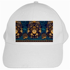 African Pattern White Cap by Sobalvarro