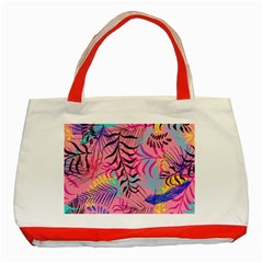 Leaves Classic Tote Bag (red)
